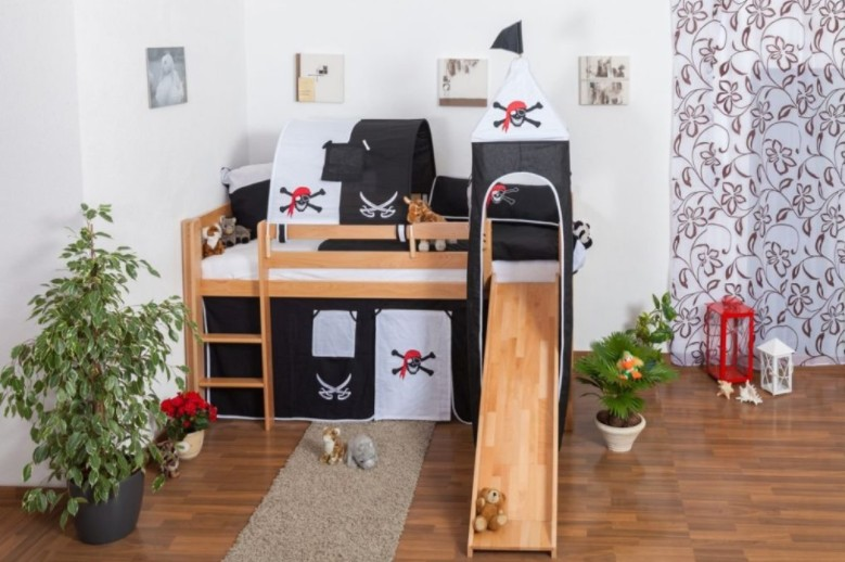 Boys Pirate Themed Bed With Slide