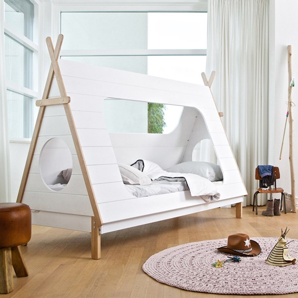 Gorgeous White Wooden Teepee Bed