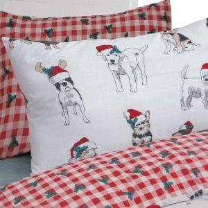 Cute Christmas Dogs Duvet Cover
