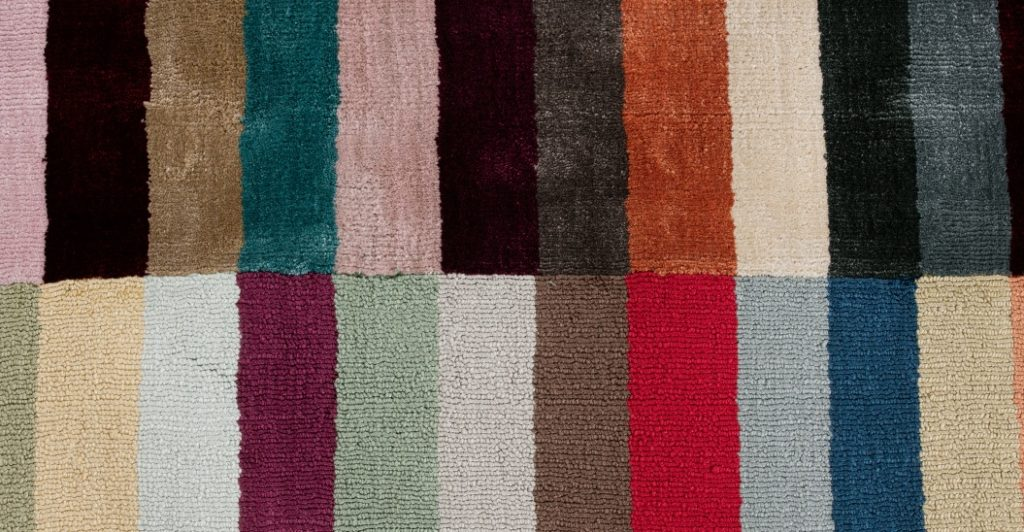 Large Striped Colourful Rug