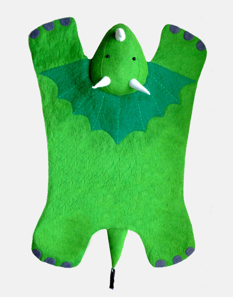 Triceratops Rug for Kids