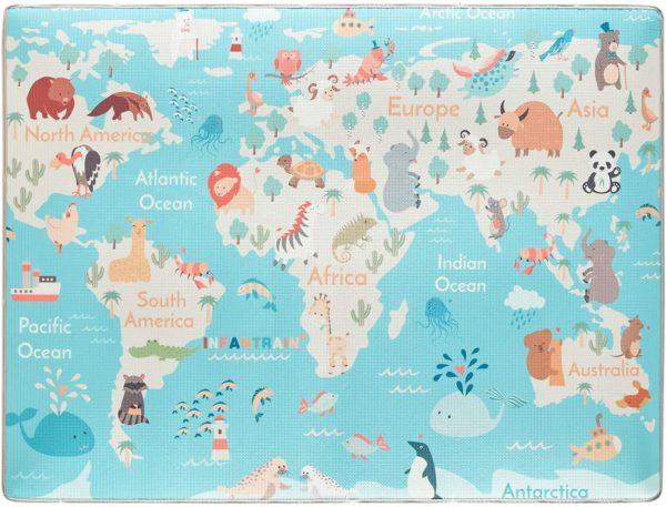 Cool Map Mat for Kids