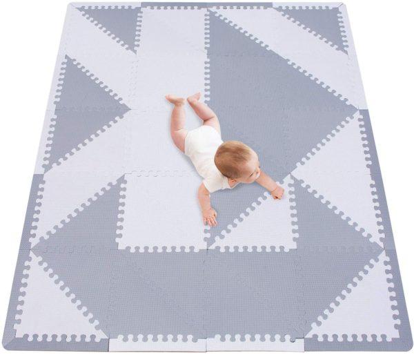 Stylish Grey Meiqicool Foam Play Mat
