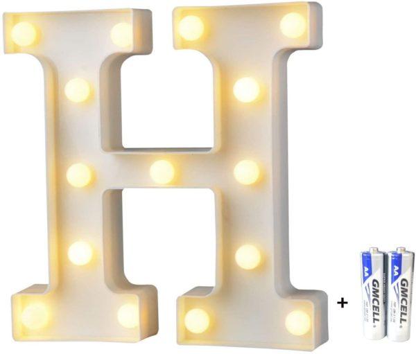 Stylish Bemece Letter Lights for Kids Rooms