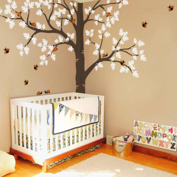 Stunning tree decal with ladybirds