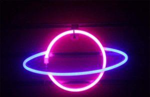 Cool Glowing Hanging Planet