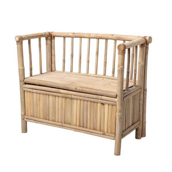 Bamboo storage bench