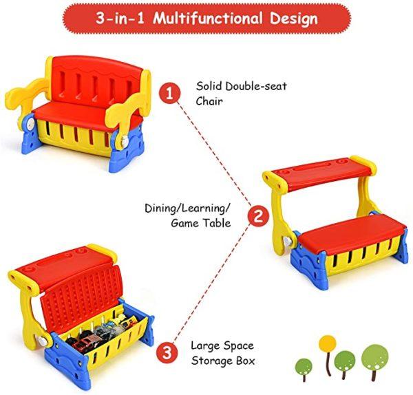 Convertible storage bench