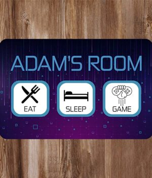 Kids Room Sign for Gamers