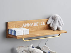 Stylish personalised wall shelf