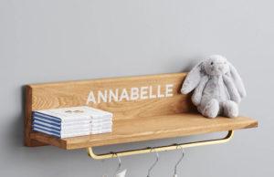 Stylish personalised wall shelf