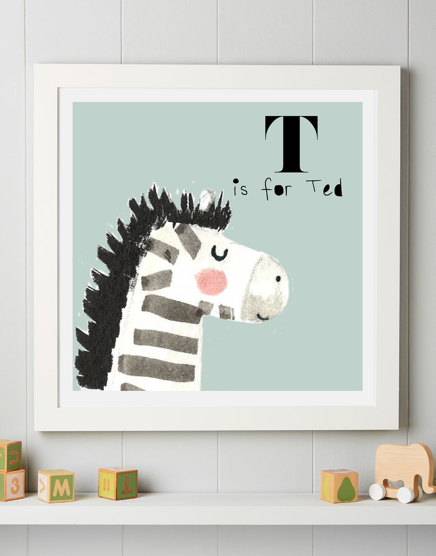 Personalised Zebra art