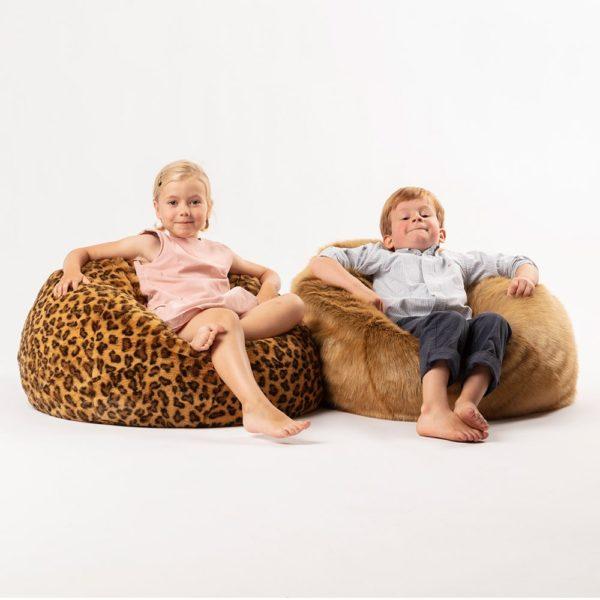 Kids Faux Fur Bean Bag Chairs