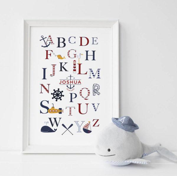 Personalised Nautical Alphabet Print