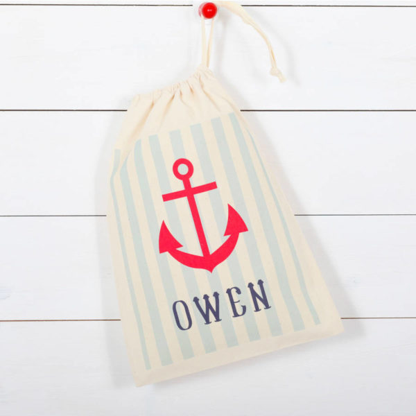 Personalised Nautical Children's Storage Bag