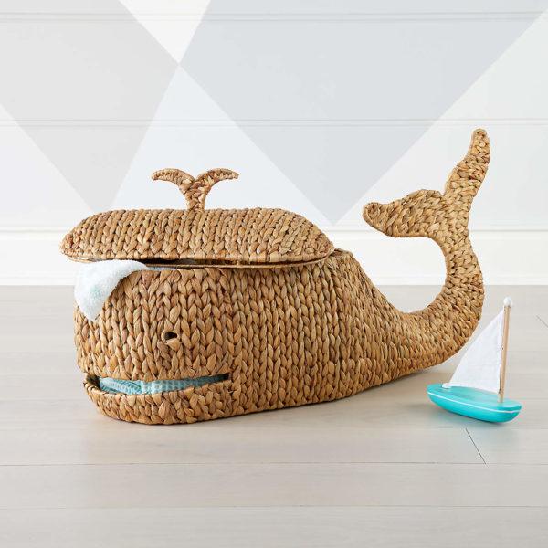 Whale storage basket